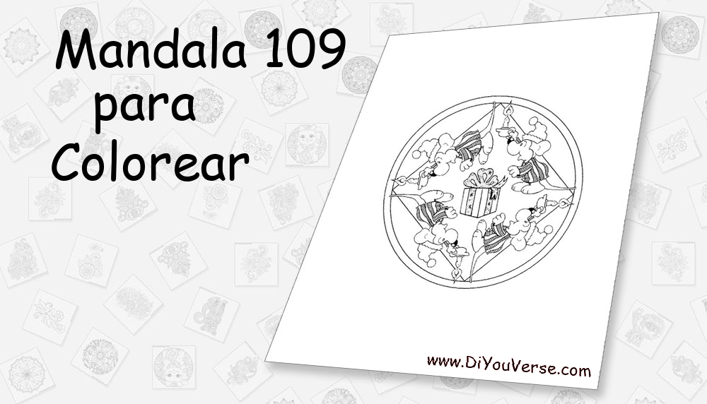 Mandala 109 Para Colorear