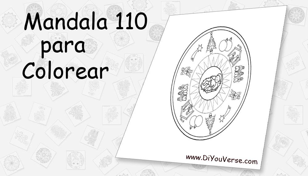 Mandala 110 Para Colorear