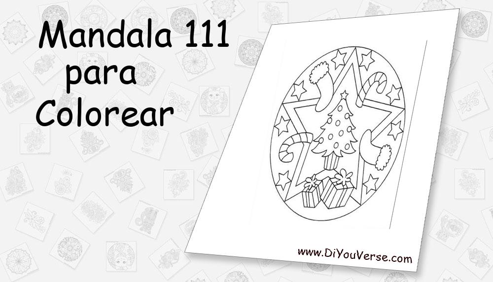 Mandala 111 Para Colorear