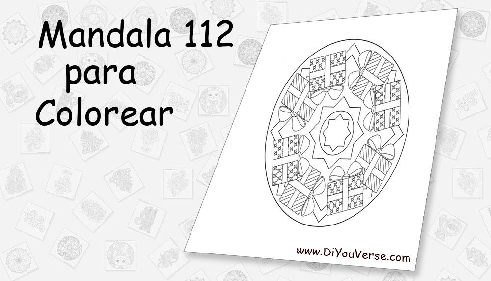 Mandala 112 Para Colorear