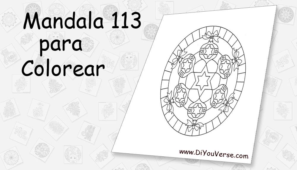 Mandala 113 Para Colorear
