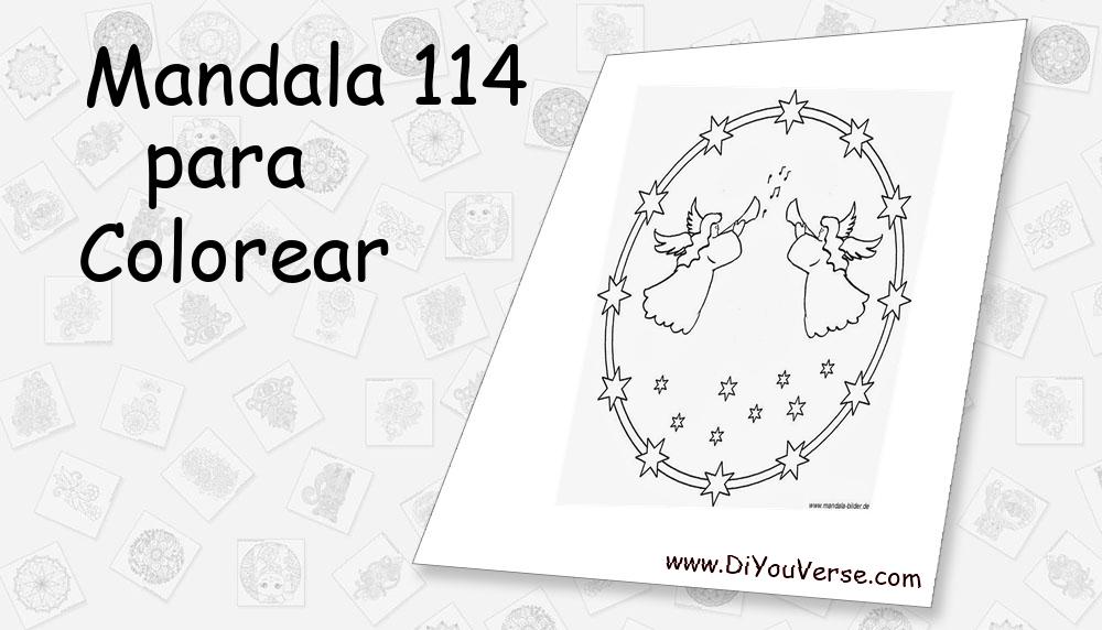 Mandala 114 Para Colorear