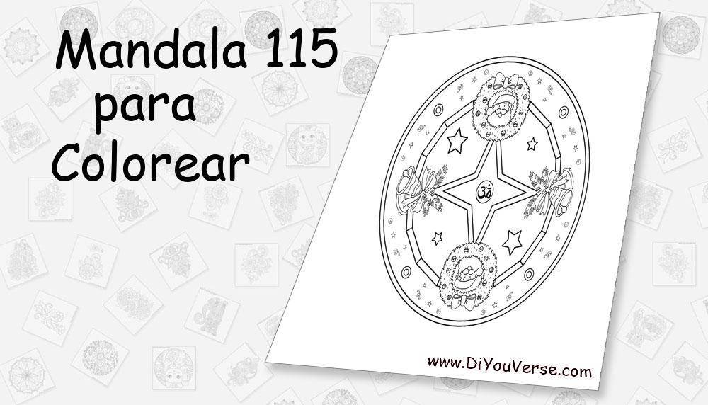 Mandala 115 Para Colorear