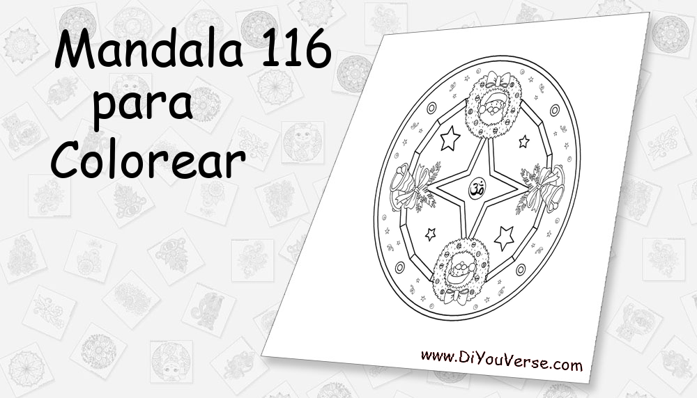 Mandala 116 Para Colorear