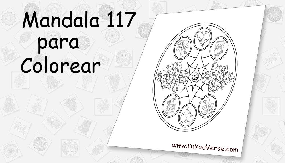 Mandala 117 Para Colorear