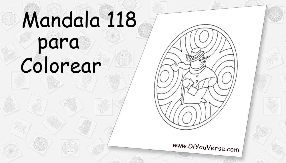 Mandala 118 Para Colorear
