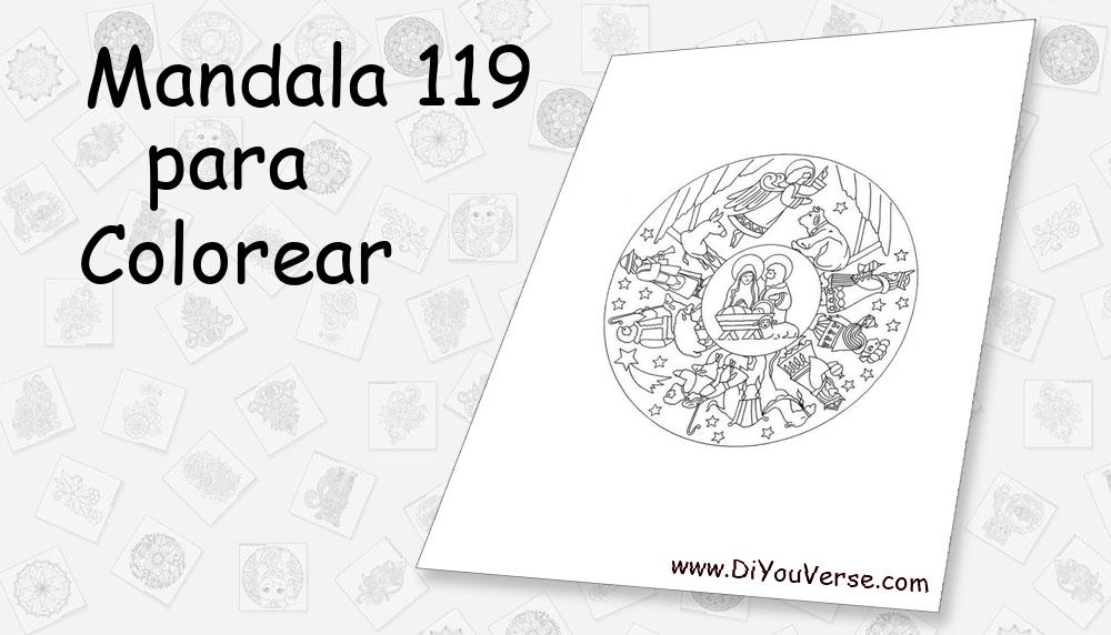 Mandala 119 Para Colorear