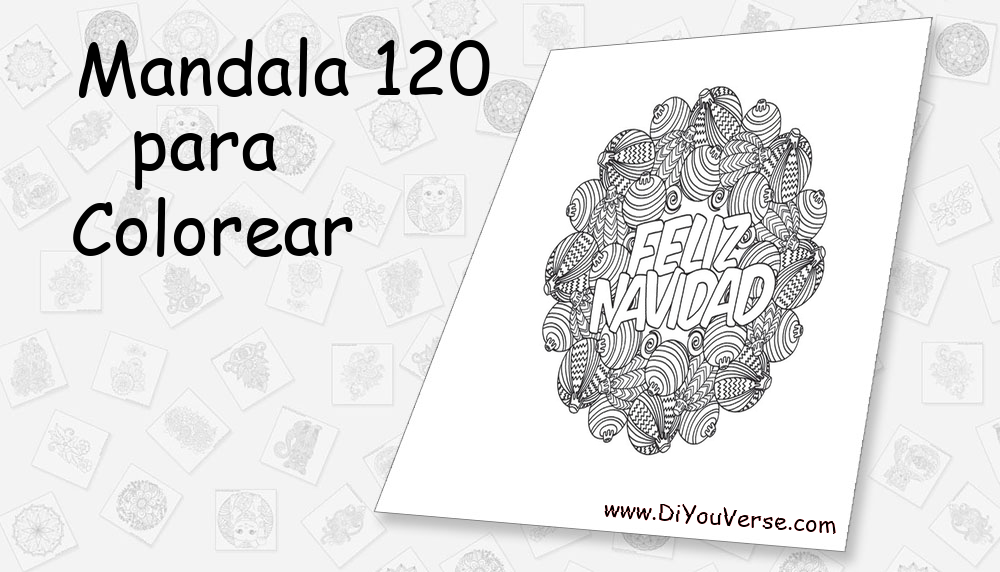 Mandala 120 Para Colorear