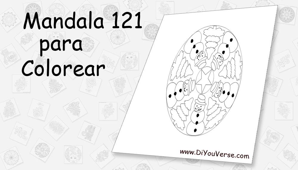 Mandala 121 Para Colorear