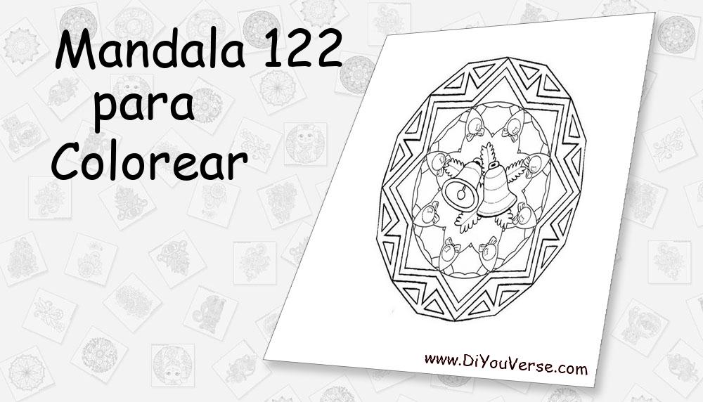 Mandala 122 Para Colorear