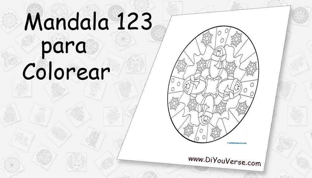 Mandala 123 Para Colorear