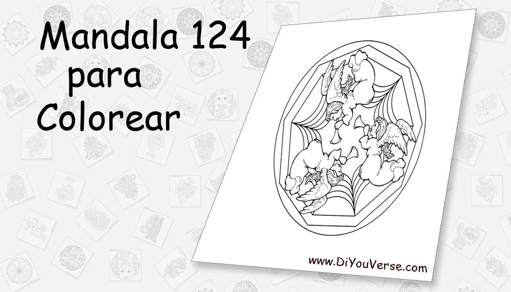 Mandala 124 Para Colorear