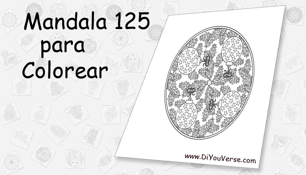 Mandala 125 Para Colorear