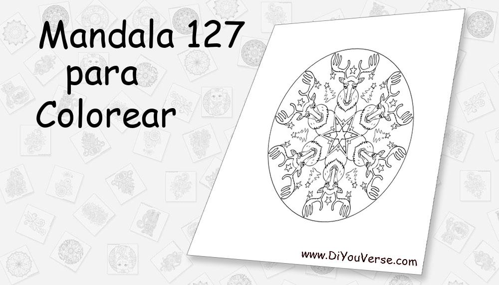Mandala 127 Para Colorear