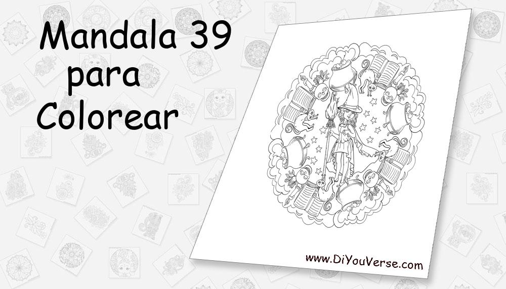 Mandala 39 Para Colorear
