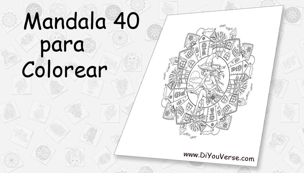 Mandala 40 Para Colorear