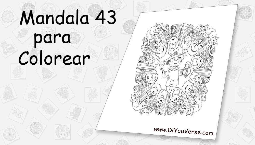 Mandala 43 Para Colorear