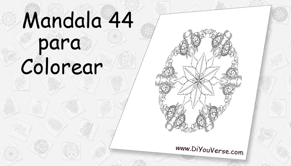 Mandala 44 Para Colorear