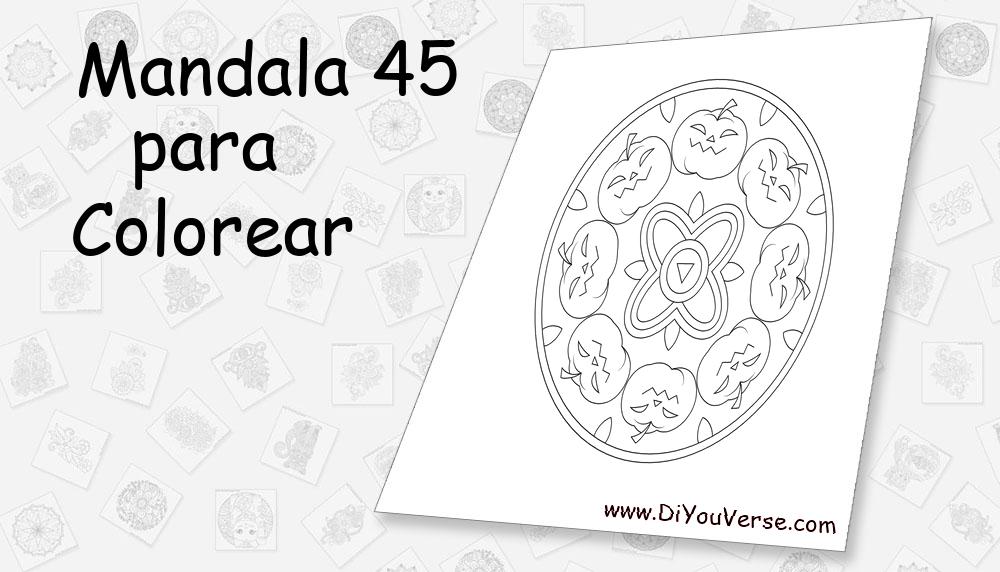 Mandala 45 Para Colorear