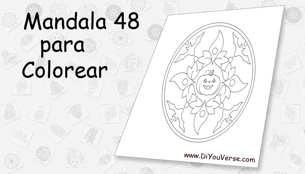 Mandala 48 Para Colorear