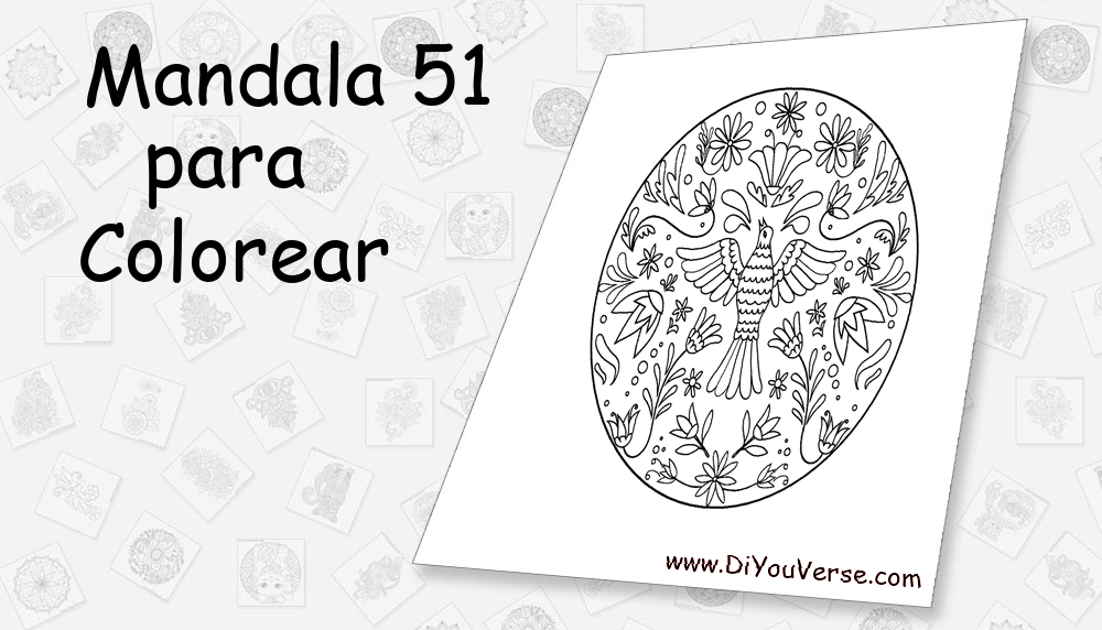 Mandala 51 Para Colorear