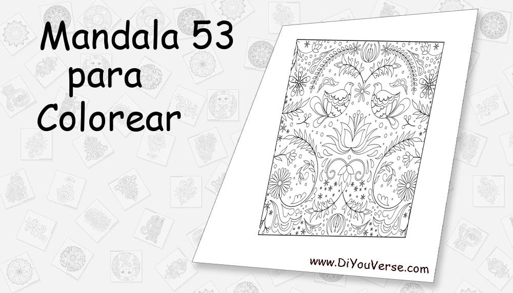 Mandala 53 Para Colorear