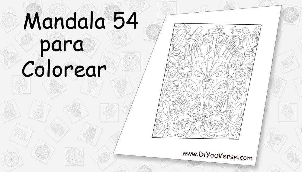 Mandala 54 Para Colorear