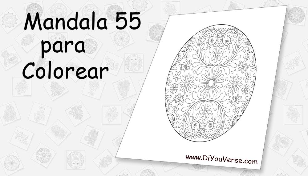 Mandala 55 Para Colorear