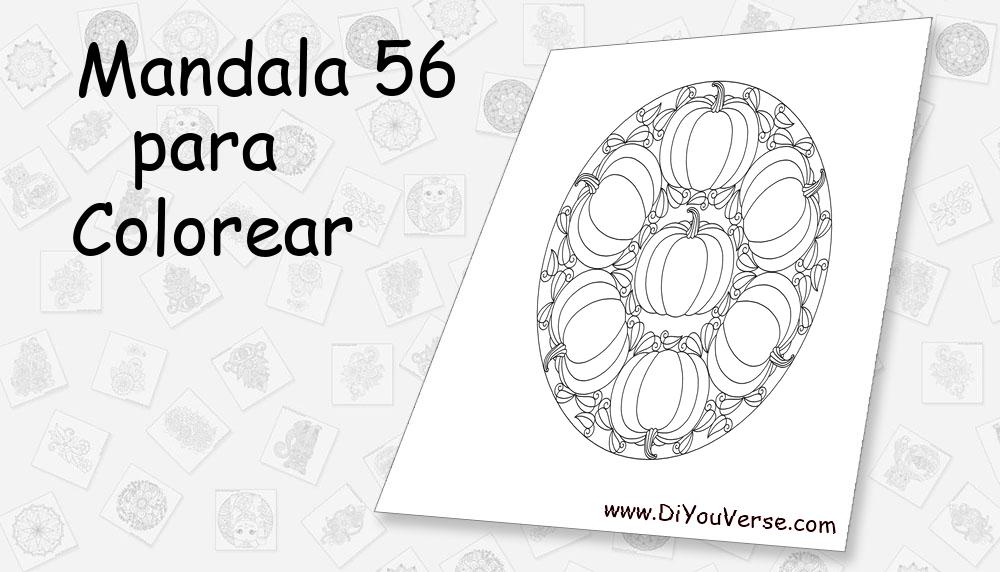 Mandala 56 Para Colorear