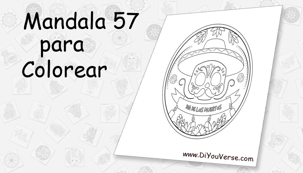Mandala 57 Para Colorear