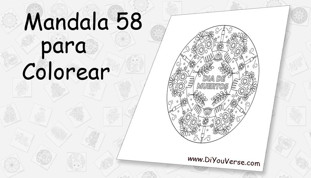 Mandala 58 Para Colorear