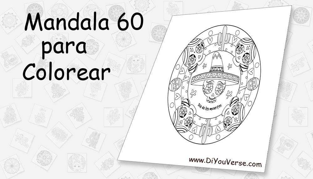 Mandala 60 Para Colorear