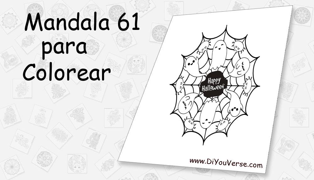 Mandala 61 Para Colorear