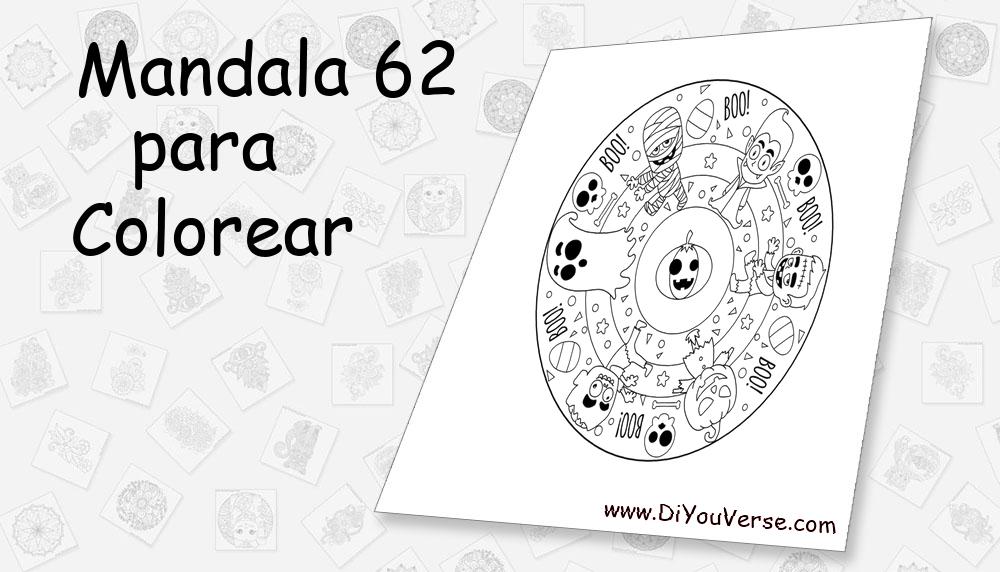 Mandala 62 Para Colorear