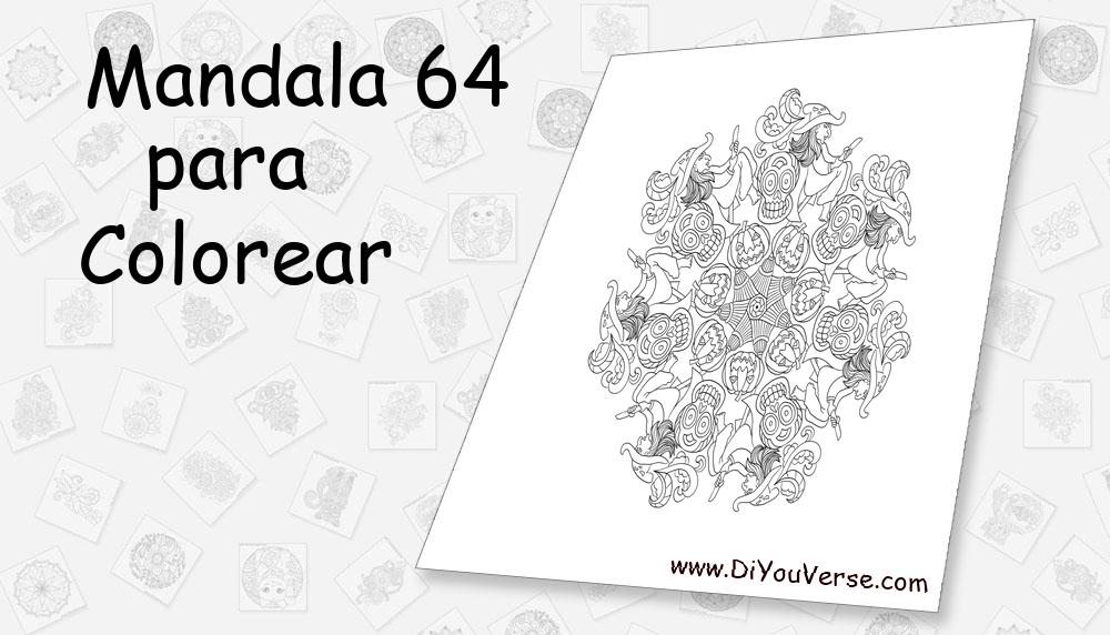 Mandala 64 Para Colorear
