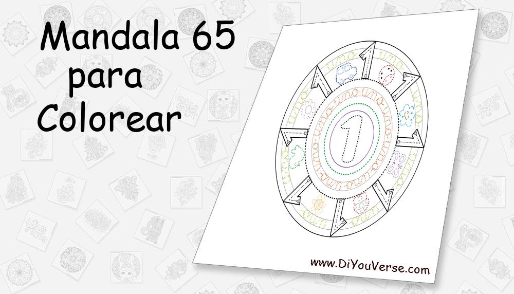 Mandala 65 Para Colorear