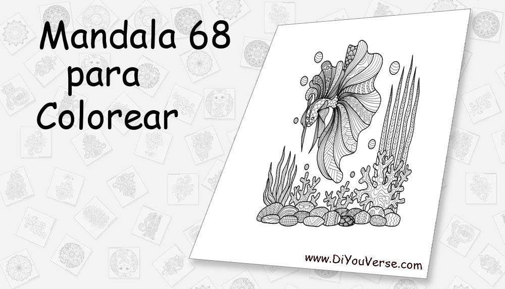 Mandala 68 Para Colorear