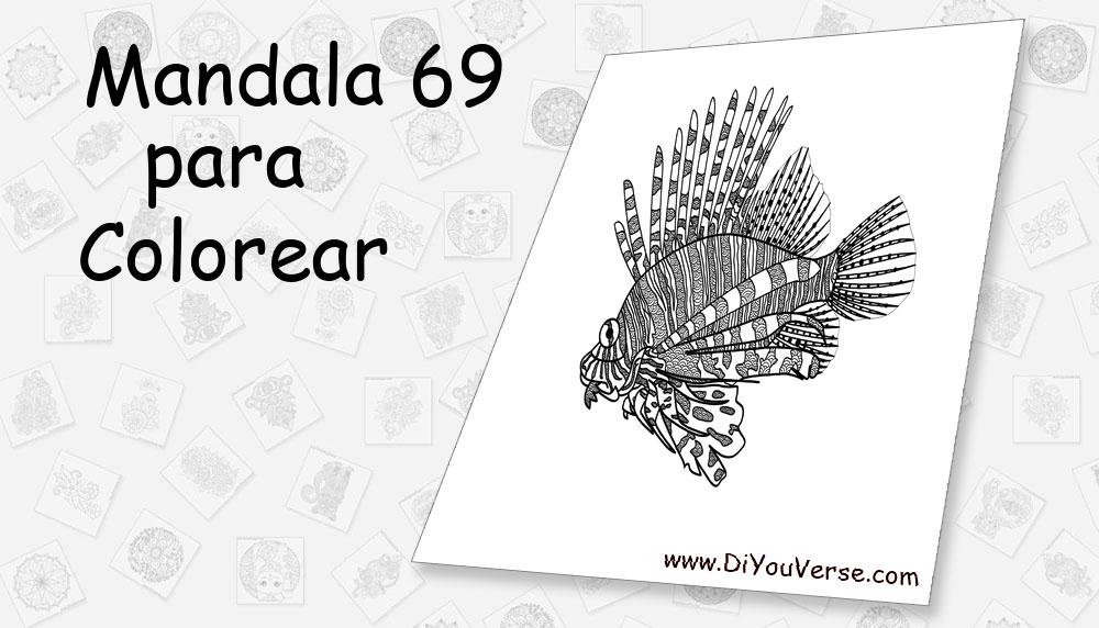 Mandala 69 Para Colorear