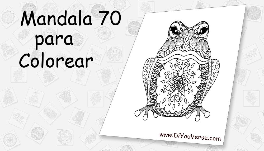 Mandala 70 Para Colorear