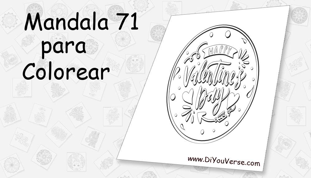 Mandala 71 Para Colorear