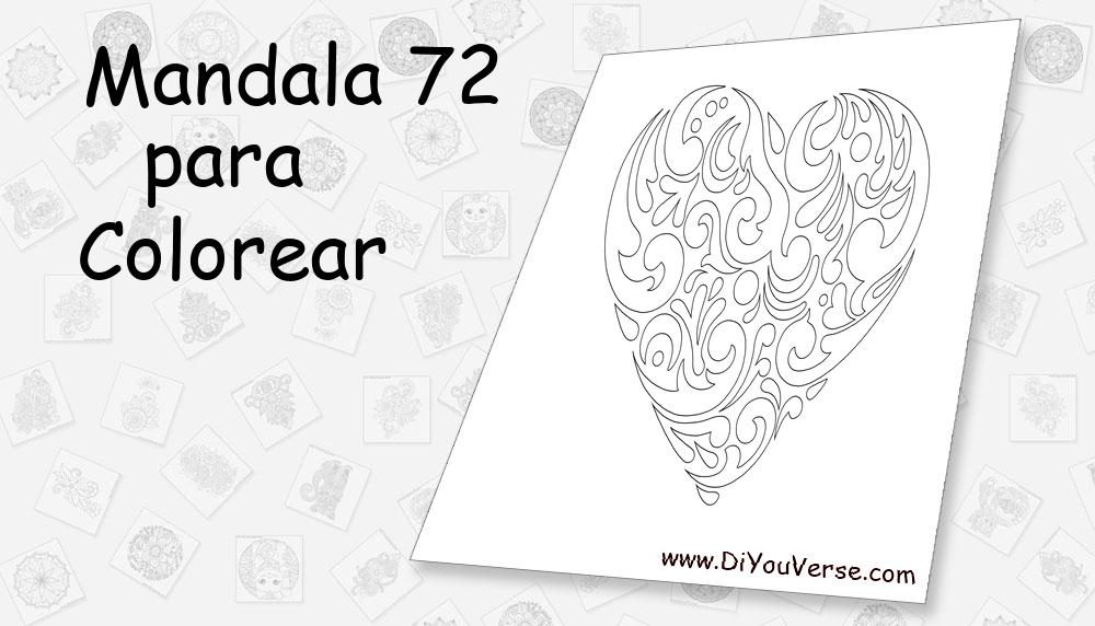 Mandala 72 Para Colorear