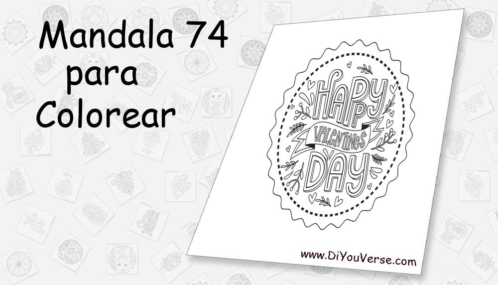 Mandala 74 Para Colorear