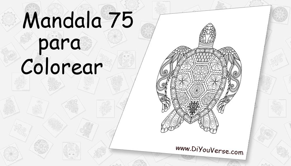 Mandala 75 Para Colorear