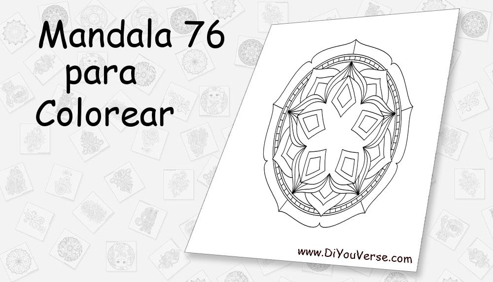 Mandala 76 Para Colorear
