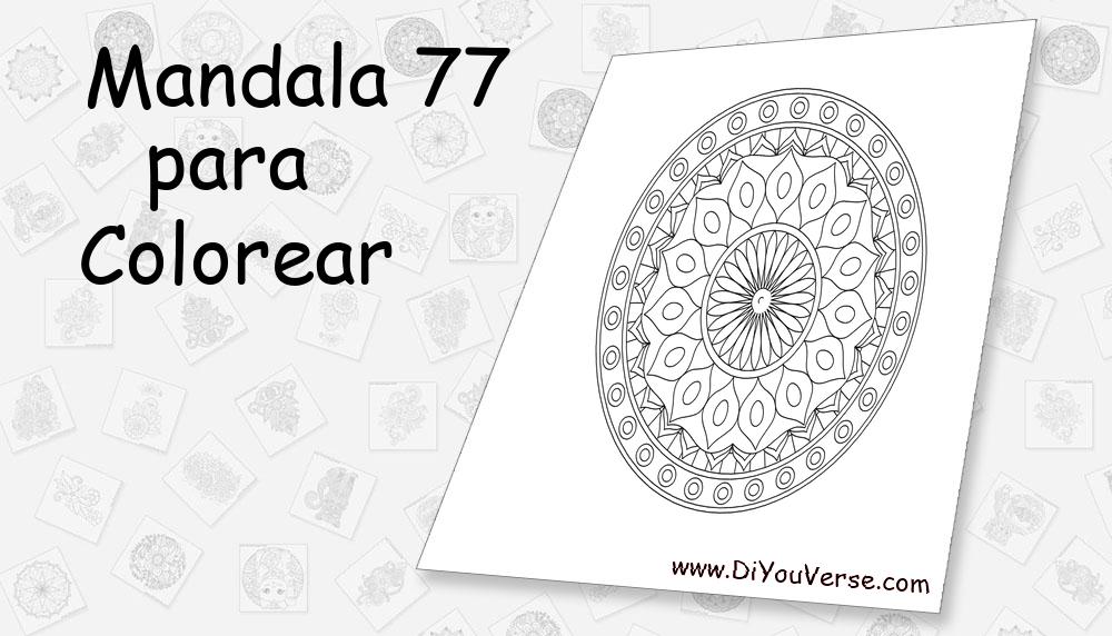 Mandala 77 Para Colorear