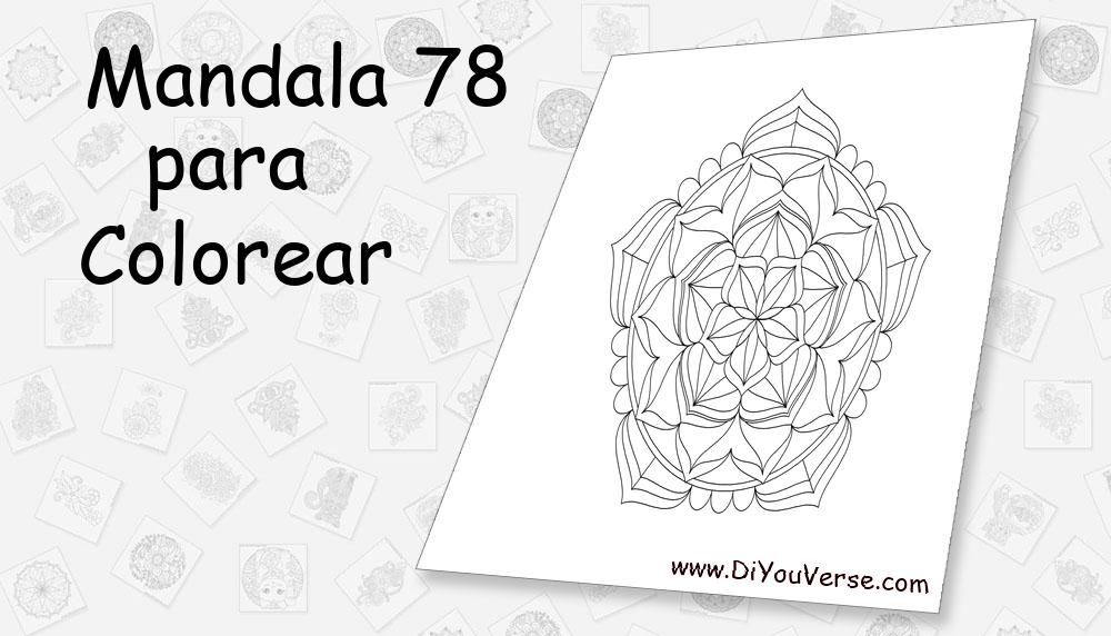 Mandala 78 Para Colorear