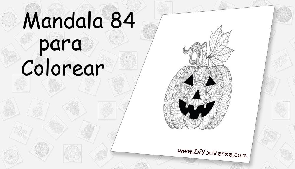 Mandala 84 Para Colorear