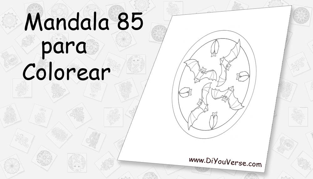 Mandala 85 Para Colorear