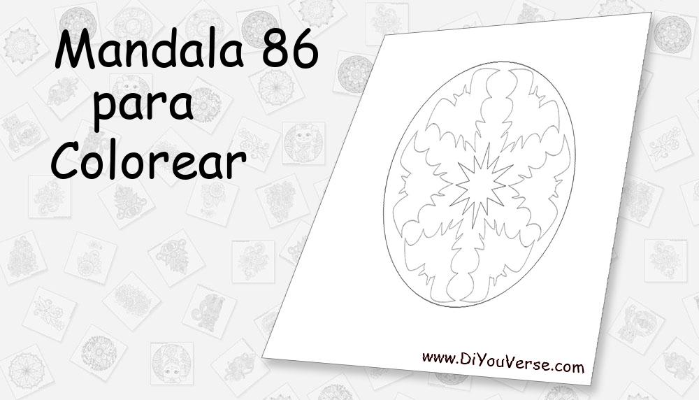 Mandala 86 Para Colorear