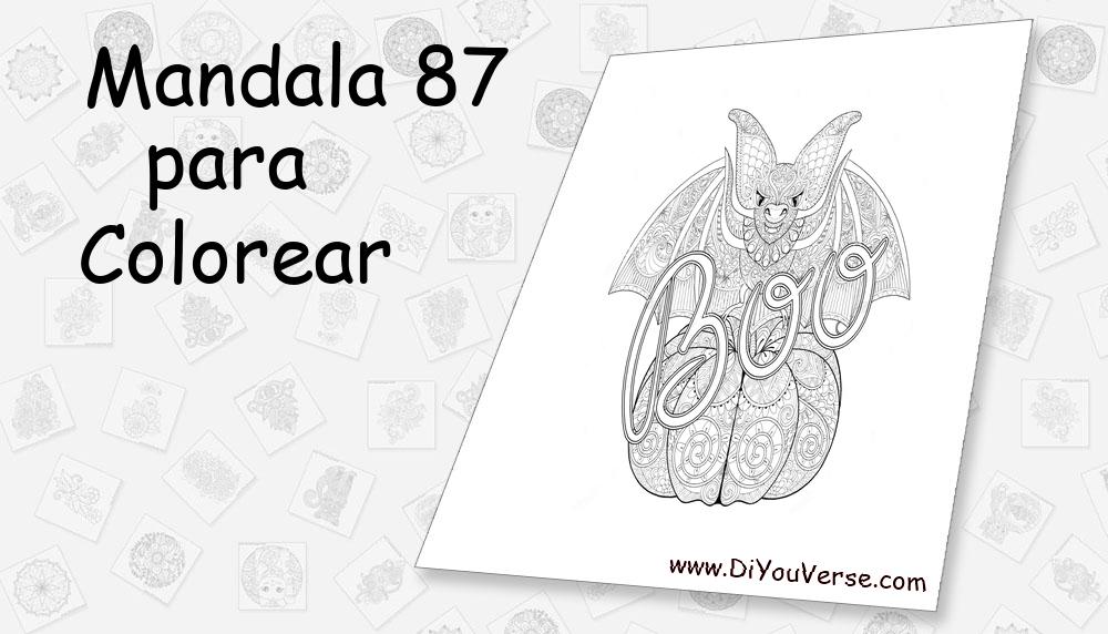 Mandala 87 Para Colorear